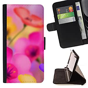 Jordan Colourful Shop - Spring Flower Narcissus Flower Pink For Sony Xperia M2 - Leather Case Absorci???¡¯???€????€????????&cen