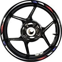Stickman Pro Rapid CG4C Red White Blue White 17 inch Rim Motorcycle Sticker Wheel Decal Stripe Bubble Free