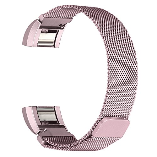 bayite-milanese-replacement-bands-for-fitbit-charge-2-rose-pink-large