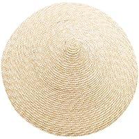 Fanuse Gran Borde Cónica Color Natural Bambú Lluvia Paja Sombrero Sombrero para el Sol Feminino Mujer Cilíndrica…