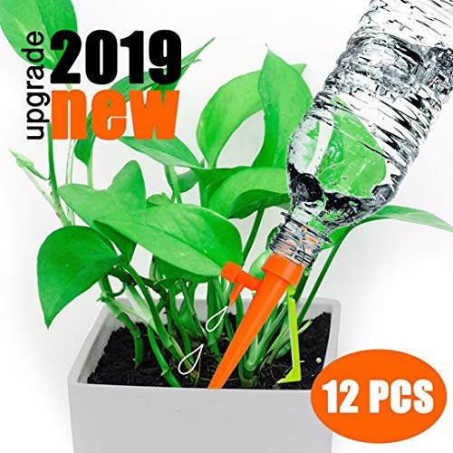 - WeajaSlan Plant Self Watering Spikes System with Slow Release Control,Automatic Plant Irrigation System,Plant Watering Globes,Automatic Watering System for Potted Plants,Suitable for All Bottles