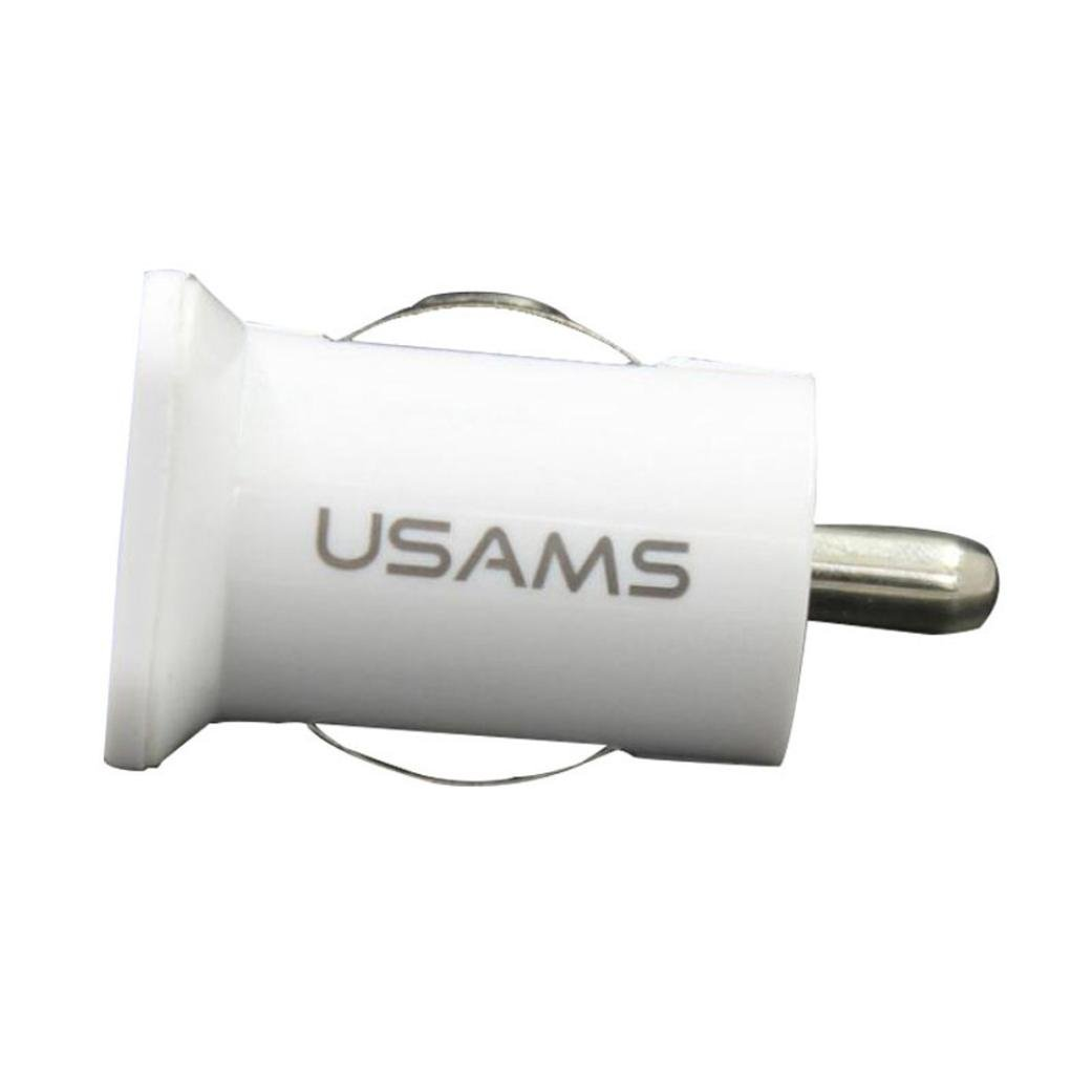 Glumes Car Charger, Fast Charging, Multifunction 2 USB Automatic Identification Charging, For iPhone X 8 7 6S 6 Plus, 5 SE 5S 5 5C, Galaxy S9 S8 S7 S6 Edge, Note 8 4, LG G6 G5 HTC,Nexus (White)