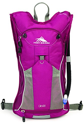 High Sierra Womens Propel 70 Hydration Backpack Pack with 2L BPA Free Bladder: Perfect for Hiking, Running, Cycling, Biking, Climbing, Hunting, and Outdoor Activities, Boysenberry/Boysenberry/Ash