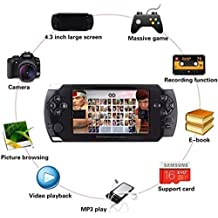 """2018 Portable Video Game Console, 4.3"""" LCD Player 8GB Built-In 32Bit 3000 Games by SmartPro"""