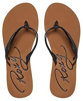 Roxy Women's Cabo Flip Flop, Blackbrown, 8 M Us 7