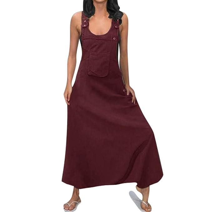 UK Women Plus Size Loose Strap Dungaree Jumpsuit Playsuit Baggy Bodysuit Trouser