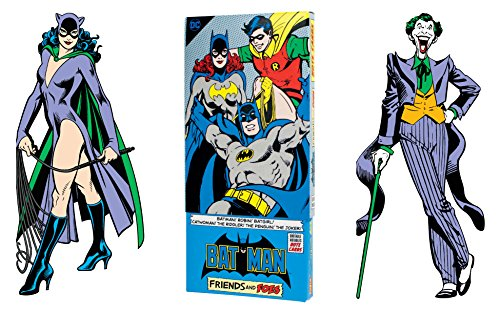 Batman Greeting Card Boxed Set - Die Cut Silhouette Cards of Batman, Robin, Batgirl, Catwoman, The Riddler, The Penguin, The Joker