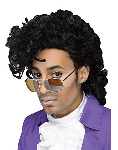 Prince Halloween Costume For Men (Purple Pain 80s Pop Star Wig)