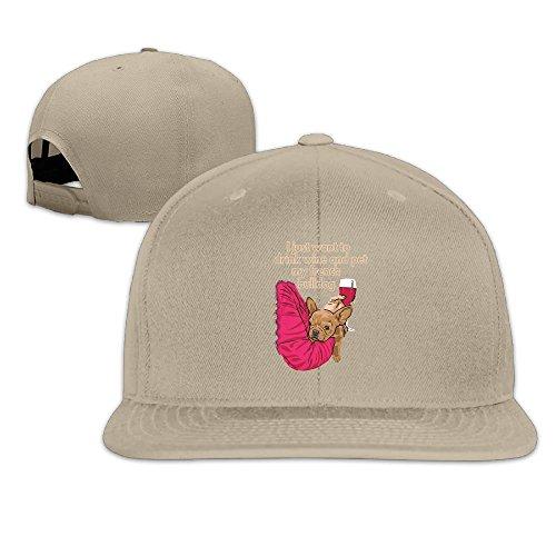 Hi Quality Designer (Odr KOPWIEA Mens Hi Quality Frenchie Designer Casual Style Baseball Natural Hat Adjustable Snapback)