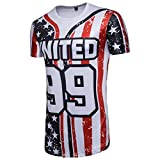 Hunzed Men's Shirt, Summer { American Flag Print