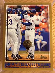 1998 Topps Inaugural Diamondbacks #157 Carl Everett New York Mets
