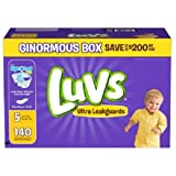 Health & Personal Care : Luvs With Ultra Leakguards Big Pack Size 5 Diapers 80 Count