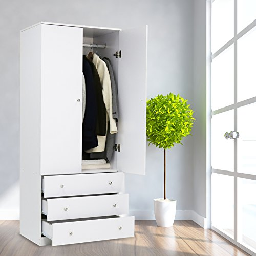 White 2 Door Wardrobe - 7