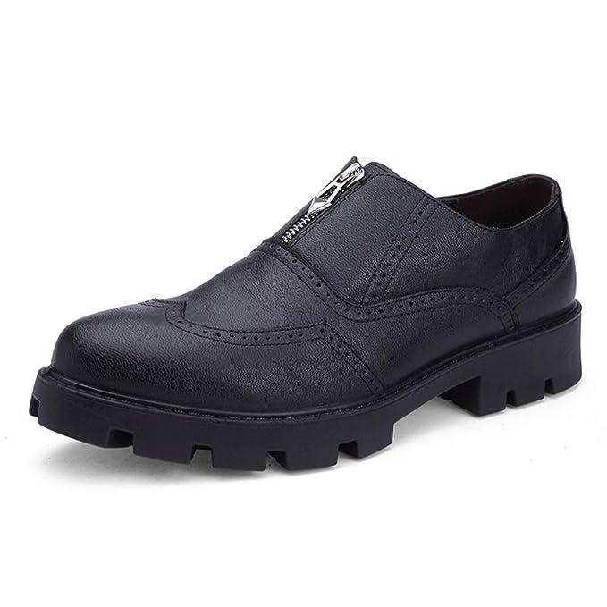 6fda5002e29e Amazon.com: Hilotu Men's Fashion Oxford Dress Shoes Casual ...
