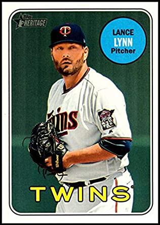 0f2fc0fc5 Amazon.com  2018 Topps Heritage High Number Baseball  682 Lance Lynn Minnesota  Twins Official MLB Trading Card  Collectibles   Fine Art