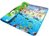 Baby Kids Children Play-Mat Two Sides Playing Activity Pad, Waterproof, Large, Assorted Soft Colors (Type 2)