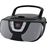 Sylvania Portable CD Player Boom Box with AM/FM Radio (Black)