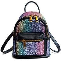EPLAZA Women Girls Shining Backpack Convertible Shoulder Cross Purse Child Travel Bag Daypack