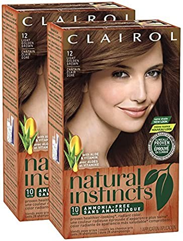 Clairol Natural Instincts, 012, Toasted Almond, Light Golden Brown, 2 pk by Clairol - Toasted Almond Light