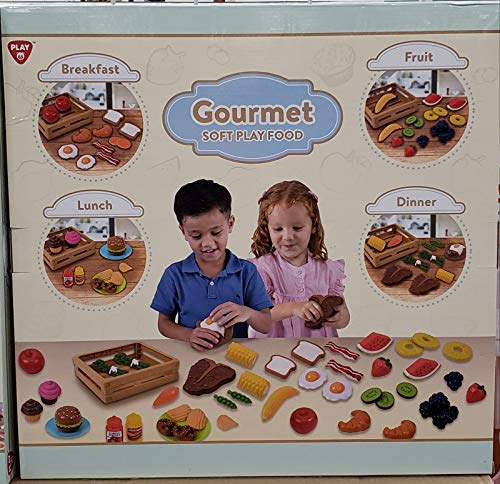 - PlayGo Toys - Gourmet Soft Play Food - Breakfast, Lunch, Dinner, and Fruit - Includes 4 Baskets!