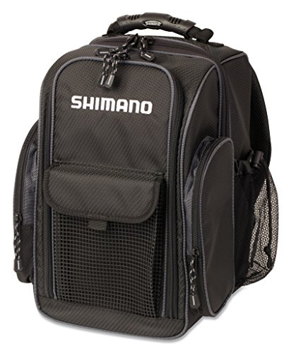 SHIMANO Blackmoon Fishing Backpack, Compact Black Moon Fishing Backpack