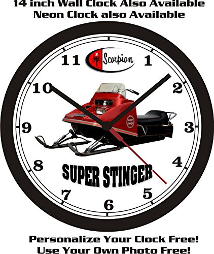 SCORPION SUPER STINGER SNOWMOBILE WALL CLOCK-FREE USA SHIP!