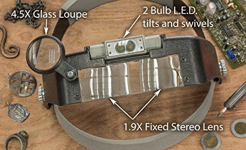 SE-MH1047L-Illuminated-Multi-Power-LED-Head-Magnifier