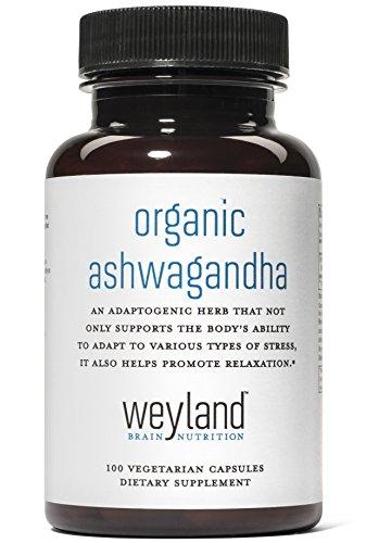 Weyland  Organic Ashwagandha  100 Vegetarian Capsules