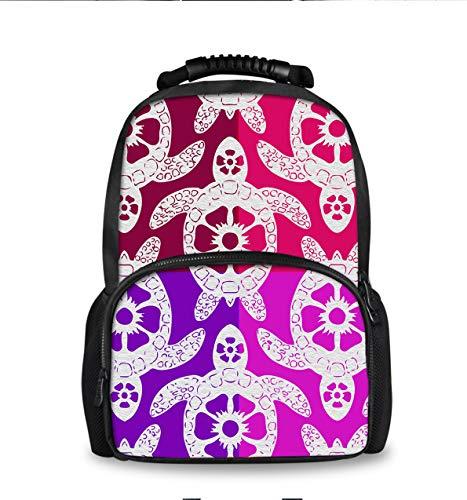 (Casual Stylish Backpack for Men Women Teens Kids Bookbag, College High School Business Daypack Outdoor Travel Bag (Tribal Sea Turtle))