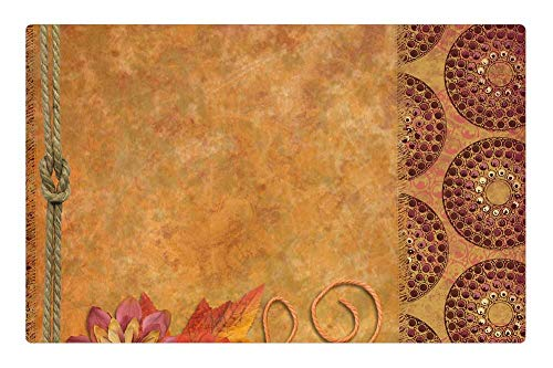 Tree26 Indoor Floor Rug/Mat (23.6 x 15.7 Inch) - Background Scrapbooking Fall Blank Flower Old 1 from Tree26