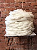 5 Lbs. Ashland Bay Cheviot Wool Roving - SPINNING FIBER Super soft Wool Top Roving drafted for hand spinning with drop spindle or wheel, felting, blending and weaving.