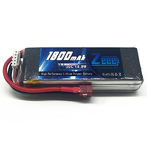 Zeee 14.8V 30C 2200mAh 4S Lipo Battery with T-connector Plug for RC Airplane Helicopter Quadcopter Vehicle Boat