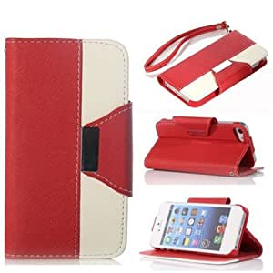 Thinkcase Wallet Leather Carrying Case Cover With Credit ID Card Slots/ Money Pockets Flip leather case For iPhone 4 4s XT04