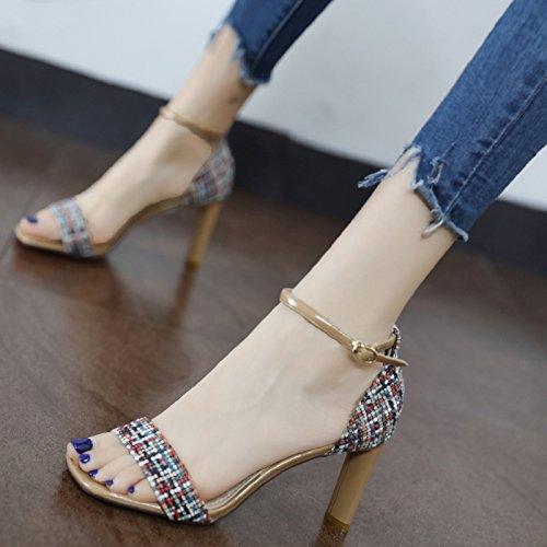 GaoXiao una parola per la moda, colore, violento e i sandali,colore albicocca