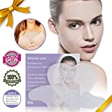 (4 pads)Anti Wrinkle Chest Pad Decollete Reusable Adhesive For Eye Breast Forehead Silicone Serfory Body Face Pad for Sun Damage Repair 100% Medical Grade For Women