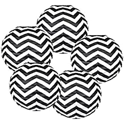"Just Artifacts 12"" Paper Lantern Black Chevron - (Set of 5)"