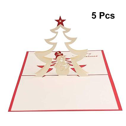 STOBOK 5 Piezas Tarjeta de Navidad 3D Pop Up Estrella de ...
