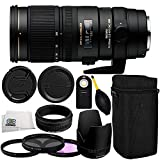 Sigma 70-200mm f/2.8 APO EX DG HSM OS FLD Large Aperture Telephoto Zoom Lens for Canon Digital DSLR Camera 11PC Accessory Kit. Includes Manufacturer Accessories + 3PC Filter Kit (UV-CPL-FLD) + MORE