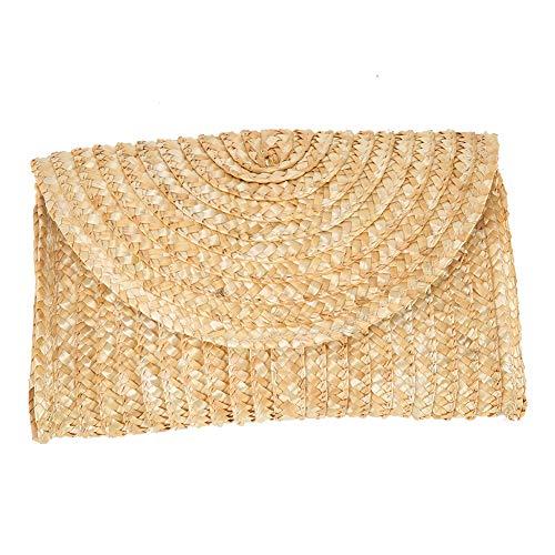 Straw Clutch Handbag, Alilove Women Straw Purse Envelope Bag Wallet Summer Beach Bag (envelopBthin) - Medium Clutch Purse