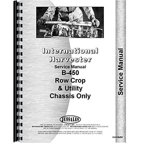 - New International Harvester B-450 Tractor Service Manual
