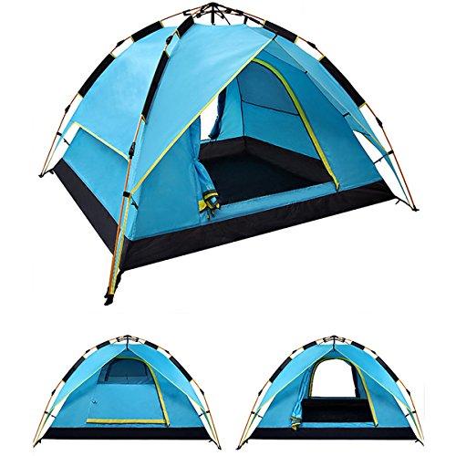 Plat Firm 200 x 200 x 135cm 3-4 Person Camping Zelt Dual Layer Wasserdichte Windschutz Tragbare AusrüStung im Freien