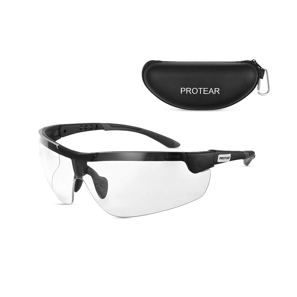 Protear Military Ballistic Standard Safety Shooting Glasses with Case - UV 400 Protection Protective Eyewear with Scratch Resistant Lens