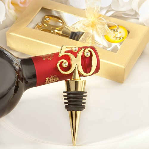 Golden - 50 wine bottle stoppers - 72 count by FavorOnline (Image #1)
