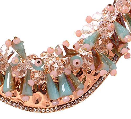 HONEYJOY New Dazzle Colour Crystal Female Luxury Clavicle Short Chain Exaggerated Fashion Necklace(blue) by HONEYJOY (Image #3)