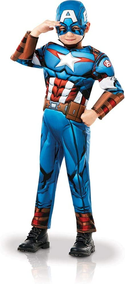 Rubies 640833S Marvel Avengers Capitán América Deluxe - Disfraz ...