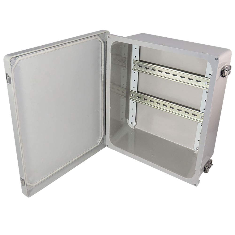 Altelix 14x12x6 Industrial DIN Rail Fiberglass Weatherproof Enclosure NEMA 4X IP66