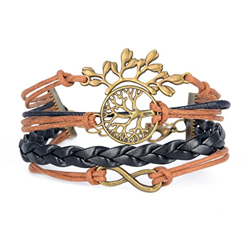 kinzd Happy Wishing Tree Life Friendship Karma Samsara Wish Hope Love Peace Charm Bracelet Boho