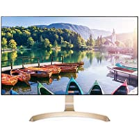 LG 27MP89GM 27 Ultra Slim Bezel FHD (1920x1080) Gold Color IPS Monitor, AMD Freesync, Flicker Free, Factory Calibration, sRGB 100%, Game Mode, Crosshair