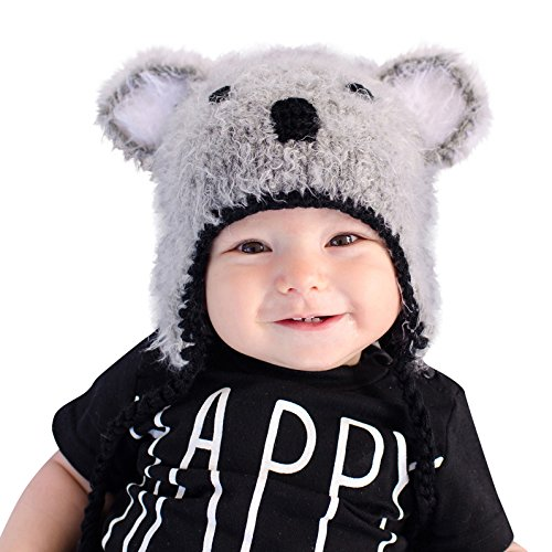 Huggalugs Boys or Girls Koala Bear Beanie Hat Small -