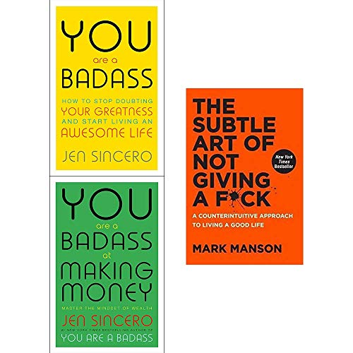 Book cover from You are a badass jen sincero, at making money, subtle art of not giving a fck [hardcover] 3 books collection set by Jen Sincero